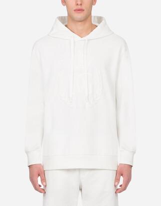Dolce & Gabbana Jersey Hoodie With Logo