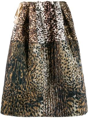 Pierre Louis Mascia Pierre-Louis Mascia flared animal print skirt