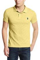 U.S. Polo Assn. Men's Slim-Fit Cotton Slub Polo Shirt