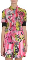 Versace Orchid Collage Print Shirt