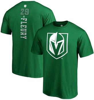 Men's Fanatics Branded Marc-Andre Fleury Kelly Green Vegas Golden Knights St. Patrick's Day Backer Name & Number T-Shirt