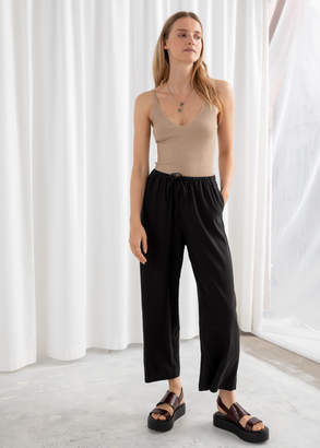 And other stories Twill Lyocell Drawstring Culottes