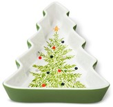 Threshold Tree with Decal Interior Ceramic Candy Dish White