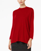 Eileen Fisher Lightweight Jersey Mock-Neck Top