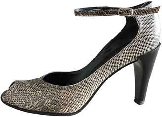 Jil Sander Grey Lizard Heels