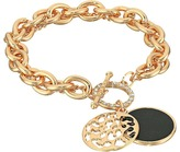 GUESS Double Strand Toggle Bracelet with Jet Disc