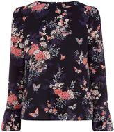 Oasis Kimono Flute Sleeve Top