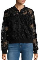 T Tahari Britney Embroidered Floral Jacket