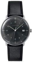 Junghans Max Bill Quartz 041/4462.00 38mm Stainless Steel Case Black Calfskin Glass Men's Watch