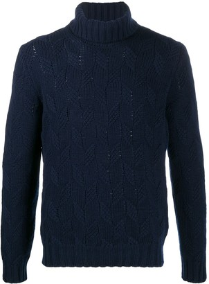 Tagliatore Cable Knit Rollneck Jumper