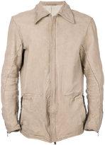 Incarnation - front-zipped biker jacket - men - Cotton/Horse Leather/Polyamide - L
