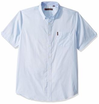 Ben Sherman Men's SS DOT Stripe Print Shirt