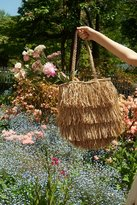 Urban Outfitters Fringed Straw Tote Bag