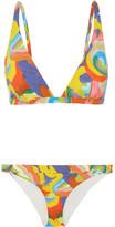 Missoni Mare Printed Triangle Bikini - Orange
