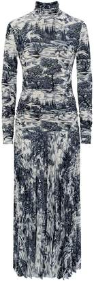 Victoria Victoria Beckham Victoria, Victoria Beckham Forest Print Pleated Dress