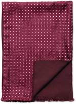 Burgundy Dot Silk Scarf Size Osfa By Charles Tyrwhitt
