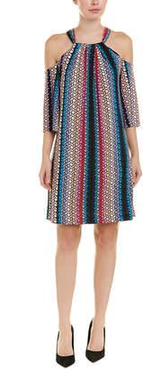 Trina Turk Cold-Shoulder Shift Dress