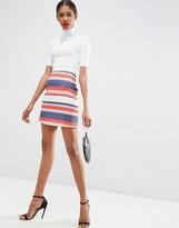 Asos A-Line Mini in Premium Textured Stripe