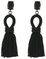 Oscar de la Renta Short Silk Tassel C Earrings Earring
