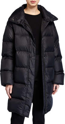 Eileen Fisher Petite Recycled Nylon Funnel-Neck Puffer Coat