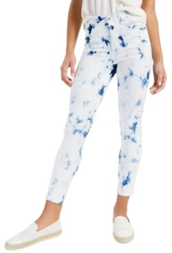Style&Co. Style & Co Tie-Dyed High-Rise Skinny Jeans, Created for Macy's