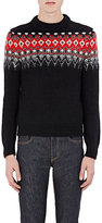 Saint Laurent Men's Sequin-Embellished Fair Isle Sweater-BLACK, RED, NO COLOR