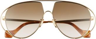 Loewe 60mm Gradient Cutout Aviator Sunglasses