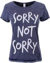 Grindstore Women's Sorry Not Sorry Raw Denim T-shirt