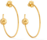 Maria Black - Orion Maxi Gold-plated Hoop Earrings - one size