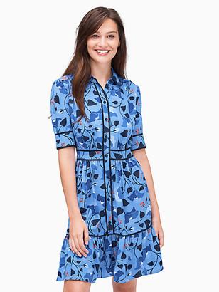 Kate Spade Nouveau Bloom Fluid Shirtdress
