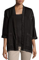 Eileen Fisher Organic Cotton Open-Front Boxy Jacket, Petite