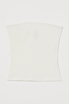 H&M Ribbed Tube Top - White