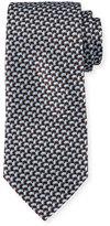Ermenegildo Zegna 3D Basketweave Silk Tie, Blue