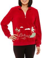 Alfred Dunner Classic Long Sleeve Sweatshirt