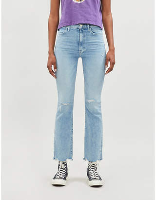 Mother Hustler cropped high-rise jeans