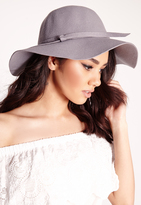 Missguided Dory Bow Detail Floppy Hat Grey