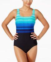 Reebok Trailblazer Tribal-Stripe Active One-Piece Swimsuit