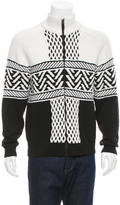 Alexander Wang Fair Isle Cable Knit Sweater