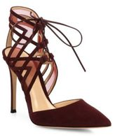 Gianvito Rossi Adria Suede d'Orsay Point Toe Pumps
