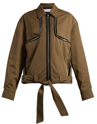 J.W.Anderson Zipped Twill Jacket - Womens - Khaki