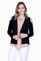 Select Fashion Fashion Womens Black Cold Shoulder Blazer - size 6