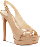 Jessica Simpson Willey Slingback Platform Dress Sandals Women's Shoes