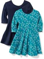 Old Navy 2-Pack Fit & Flare Scoop-Back Dress for Toddler Girls