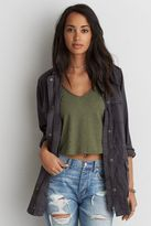 American Eagle Outfitters AE Tencel Military Jacket