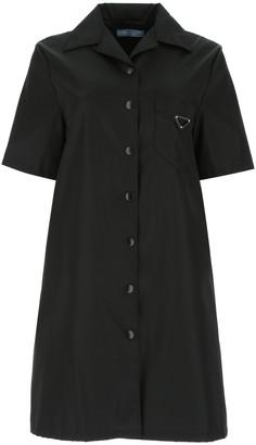 Prada Logo Shirt Dress