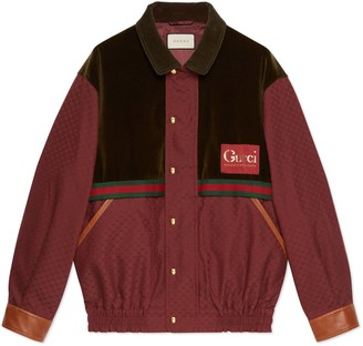 Gucci Mini GG jacket with velvet details