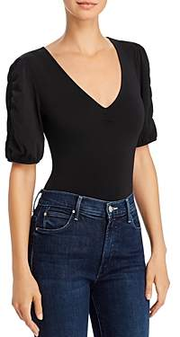 GUESS Sonya Ruched-Sleeve Bodysuit
