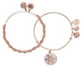 Alex and Ani 14K Rose Gold Plated Snowflake Holiday Bracelet Set