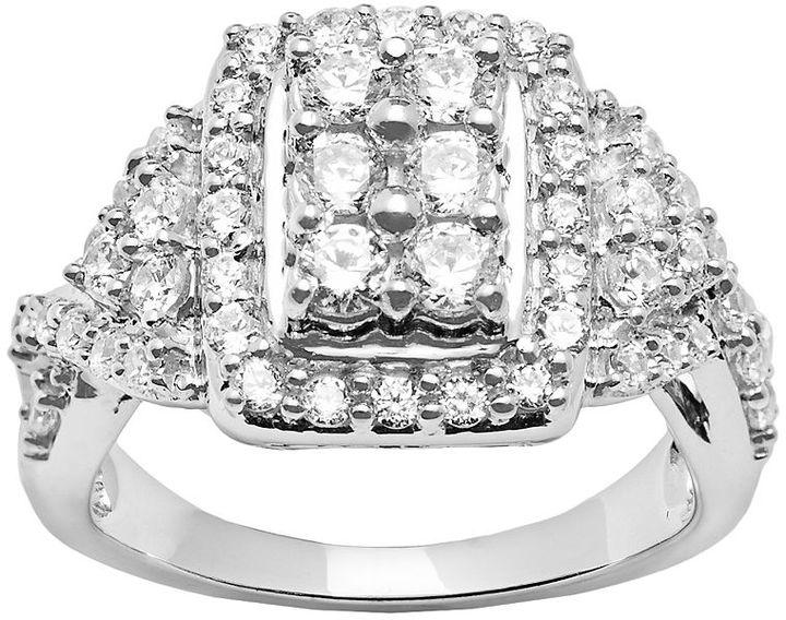10k White Gold 1 1/2-ct. T.W. Round-Cut Diamond Ring