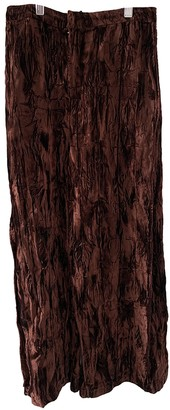 Collina Strada Brown Polyester Trousers